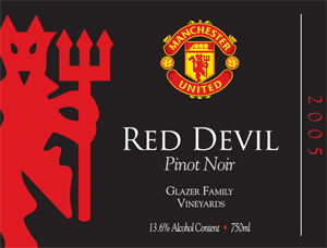 Red Devil Wine Label