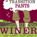 transition pants wine label