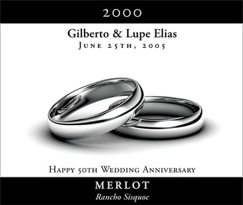 Wedding Rings Silver - Large Horizontal
